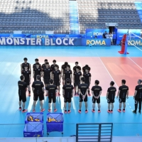 Japan during the first training in Foro Italico in Rome one day before the Men's World Championship 2018