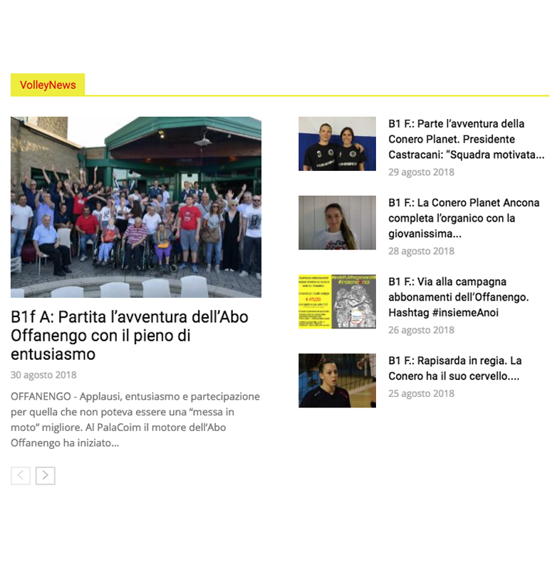 Volley news